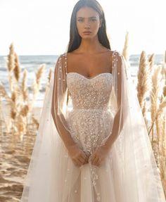Best Wedding Dresses, Bridal Dresses, Wedding Gowns, Wedding Styles, Lace Wedding, Destination Wedding Dresses, Wedding Planning, Wedding Cape, Elopement Wedding