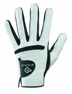 Bionic Mens RelaxGrip Left Hand Golf Glove WhiteBlack XLarge >>> Click on the image for additional details.
