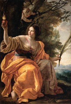 Simon Vouet (French, 1590-1649), Heavenly Charity, c. 1640. Oil on canvas, 192 x 132 cm, Musée du Louvre, Paris.