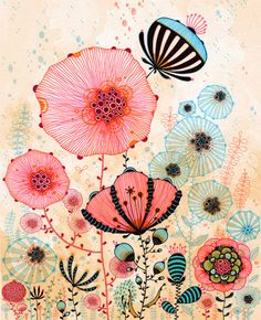 Morning  Print by yellena on Etsy, $20.00.  Very spring!