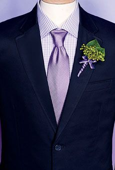 Grooms & Guys: Wedding Color Scheme: Lavender and Green