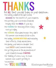 teacher appreciation quotes thank you poems for teachers preschool teacher appreciation teacher thank