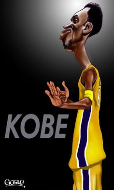 Kobe Bryant  FOLLOW THIS BOARD FOR GREAT CARICATURES OR ANY OF OUR OTHER CARICATURE BOARDS. WE HAVE A FEW SEPERATED BY THINGS LIKE ACTORS, MUSICIANS, POLITICS. SPORTS AND MORE...CHECK 'EM OUT!! Anthony Contorno Sr