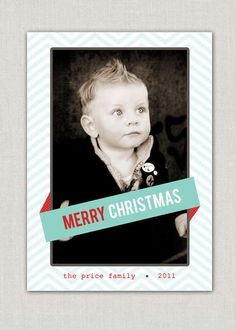Chevron Christmas Card