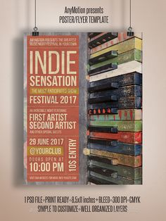 Indie Sensation Flyer | Print Template - Clubs & Parties Events