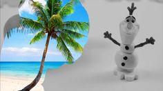 Видео раскраска Олаф на пляже (Frozen Olaf)