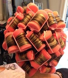 """All curlers are in sweetheart.they need to stay in all afternoon.so let's go out shopping now"" Foam Curlers, Hair Curlers Rollers, Sleep In Curlers, Wet Set, Office Hairstyles, Updo Styles, Hair Nets, Roller Set, Long Wavy Hair"