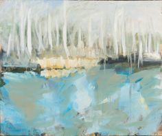 Tomáš Bambušek| Jaruňácký jezírko (Borkovická blata), 170x 143cm, olej na plátně2014. Mažice, Borkovická blata