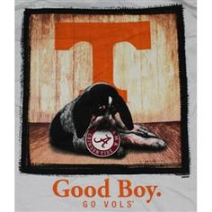 Tennessee Volunteers Football T-Shirts - Man's Best Friend - Good Boy