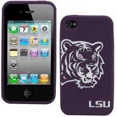 LSU Tigers iPhone 4 Silicone Case - Purple