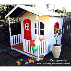 Timber Billie Cubby house Great for outdoor play.Kids love cubbies. www.hideandseekcubbies.com.au