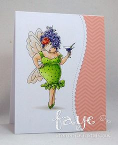 Bellarific Friday with Stamping Bella- Rubber stamp used Edna NEEDS a MARTINI card made by FAYE WYNN JONES