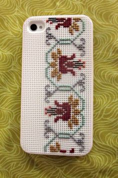 cross-stitched iPhone case.