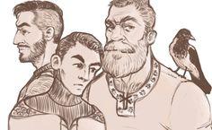 #gayart #illustration #fantasy #crow #beard
