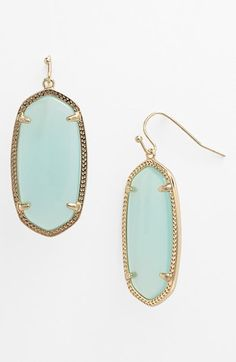 Kendra Scott 'Elle' Boxed Small Oval Earrings available at #Nordstrom love these in green