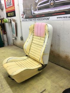 """The original foam for the bucket seats in my Valiant and Barracuda Formula """"S"""" is disintegrating. Does anyone know if the only option is purchasing. Car Seat Upholstery, Car Interior Upholstery, Automotive Upholstery, Upholstery Foam, Custom Car Interior, Car Interior Design, Truck Interior, Mustang Interior, Leather Car Seat Covers"""