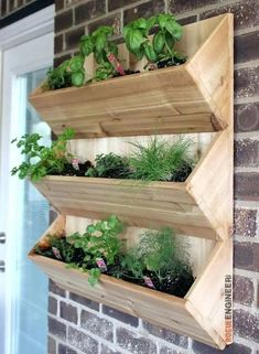 Cedar Wall Planter { Free DIY Plans - Planters - Ideas of Planters - DIY Wall Planter Free Plans Rogue Engineer garden planters from pallets Planters Planters diy planters diy plans Planters pots Planters raised Planters vegetable Diy Wooden Planters, Diy Wall Planter, Cedar Planters, Herb Planters, Planter Ideas, Concrete Planters, Wooden Garden Planters, Diy Planters Outdoor, Balcony Planters