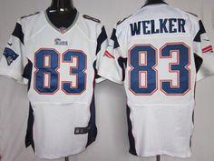Nike NFL Elite Jerseys New England Patriots Wes Welker  83 White, NIKE NFL  Jerseys d57a0746a