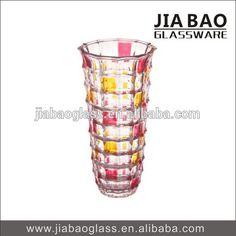 Home decorative Colorful glass vase, table glass vase, art glass vase