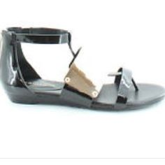 BCBGeneration sandals Brand new with box. Color black with gold accents BCBGeneration Shoes Sandals