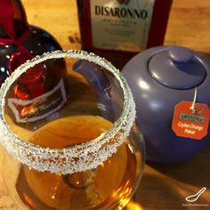 This Hot Blueberry Tea Cocktail has Grand Marnier, Amaretto and Orange Pekoe tea which tastes fruity, with a hint of blueberries. This hot tea cocktail is a variant of a hot toddy.