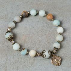 Amazonite Rosary Bracelet | The Catholic Company