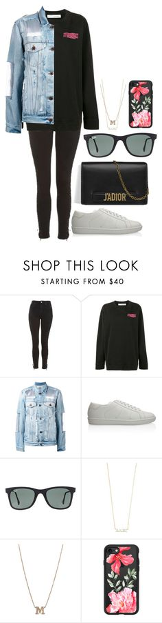 """""""Untitled #828"""" by imadeintheuk ❤ liked on Polyvore featuring Topshop, Off-White, Yves Saint Laurent, Ray-Ban, ZoÃ« Chicco, Casetify, outfit, topshop, ChristianDior and saintlaurent"""