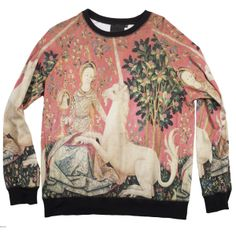 dame licorne sweat-shirt