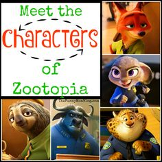 Meet the characters of Zootopia before it hits theaters nationwide March 4th! #zootopia