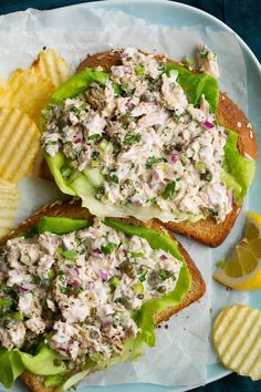 The best Tuna Salad! Made in minutes with basic ingredients like canned tuna, mayo and bright lemon. It's an easy, staple recipe! Best Tuna Salad Recipe, Easy Tuna Salad, Healthy Tuna Salad, Easy Salads, Classic Tuna Salad Recipe, Relish Recipes, Easy Salad Recipes, Healthy Eating Recipes, Healthy Snacks