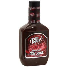 Dr Pepper Sweet & Kickin' BBQ Sauce, 18 oz (Pack of 6) Will have to try this sometime.....interesting...