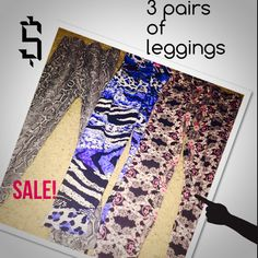 Hey, Check out what I just found on ENVIE - 3 pairs of leggings small medium and large #ENVIEapp - http://envieapp.com/