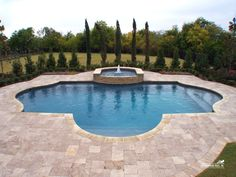 Formal / Geometric Pool by Southernwind Pools Natural Swimming Pools, Swimming Pools Backyard, Swimming Pool Designs, Pool Landscaping, Lap Pools, Natural Pools, Indoor Pools, Pool Decks, Indoor Swimming