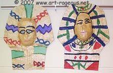 Make Egyptian Mummy Masks  http://www.art-rageous.net/SpectrumEgypt.html#