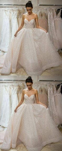chic sweetheart wedding dresses with sequins, glamorous court train wedding dresses, stunning ivory bridal gowns