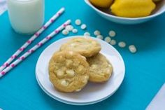 Lemon Pudding Cookies with White Chocolate Chips