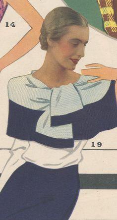 Антикварная лавка, старые страницы, схемы по вязанию - Клуб Сезон 1930