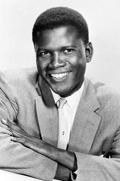 "Sidney Poitier - Movie Star Portrait Poster A little known fact, that he signed a contract for a movie, with the clause, ""I will not make a movie, if I have to disrepect my people! Hollywood Stars, Golden Age Of Hollywood, Vintage Hollywood, Classic Hollywood, Hollywood Cinema, Classic Movie Stars, Classic Movies, Vintage Movie Stars, Old Movie Stars"