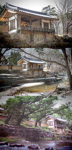 The most beautiful garden  Gyeongju in S.Korea  한국을 대표하는 건축물   아름다운 한옥   대한민국/경주/독락당(보물413호)