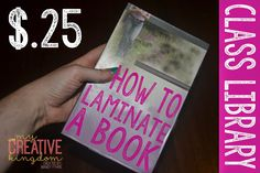 Low Cost Book Laminating with Clear Shelf Liner from the Dollar Tree - Tutorial