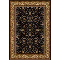 Italtex Bihar Allover Black Oriental Rug 200x290cm; $389