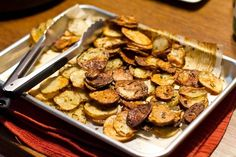 Rosemary Olive Oil Sea Salt Chips-My new favorite way to make potatoes.