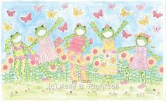 Fashion+Frog+Party+Framed+Art+by+Kelly+B.+Rightsell