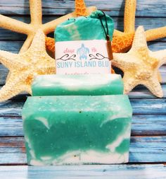 Salty Mermaid Sea Salt Soap Bar Find more soaps @ https://www.etsy.com/shop/SunyIslandBlu?section_id=11705941&ref=shopsection_leftnav_6
