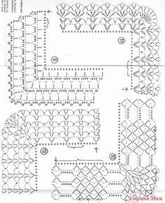 Diy Crafts - Diy Crafts - -Crochet Lace Trim Hands Ideas For 2019 crochet Crochet Border Patterns, Crochet Lace Edging, Crochet Diagram, Crochet Chart, Crochet Designs, Crochet Doilies, Crochet Baby, Stitch Patterns, Knitting Patterns