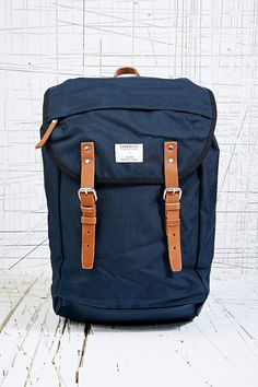 "Sandqvist ""Hans"" Backpack in Marine Blue"