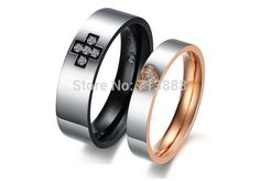 Find More Rings Information about Free Shipping Fashion Jewelry Cross Love Heart 316L Titanium Steel Rhinestone CZ Lovers Ring For Gift Party,High Quality Rings from Winni Wu's store on Aliexpress.com
