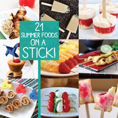 21 Fun Summer 'Food on a Stick' Recipes! ~ Come on, admit it. When you see food on a stick, you want to eat it more than if it was on a plate or in a bowl. I don't care if you're 5 or 50, combining food with skewers is just plain fun!  Check out these recipes!