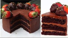 Here is my take on Vegan Chocolate Cake and this according to me is the best vegan cake recipe you'll ever need. Its rich, moist, chocolaty and super delicio. Vegan Chocolate Ganache, No Bake Chocolate Desserts, Best Vegan Chocolate, Decadent Chocolate Cake, Eggless Baking, Vegan Baking, Vegan Food, Vegan Treats, Vegan Desserts