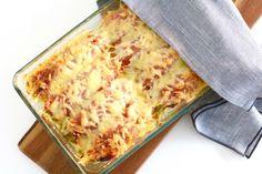 Witlofschotel met ham en kaas